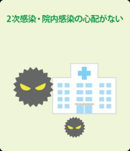 2感染・院内感染の心配がない
